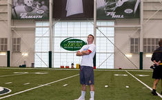 Football Practice at Jets Facilities (before game in NJ)